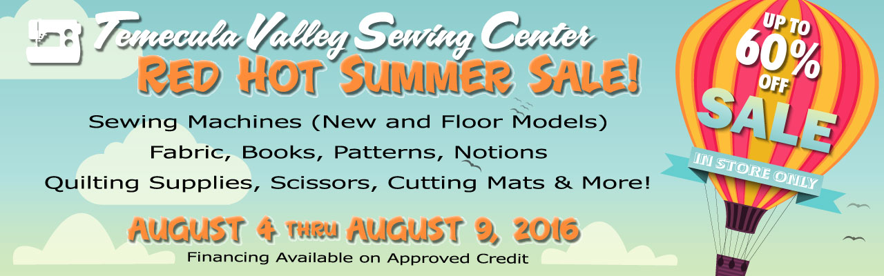 Red Hot Summer Sale August 2016 - Three Days Only - August 4 through 6, 2016