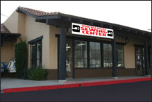 the Temecula Valley Sewing Center store front